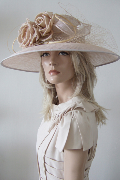 Nude Hat for Hire. Nataliya Couture, Ascot