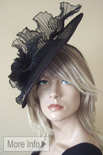 Black Fascinators, www.dress-2-impress.com Black Fascinator Hire