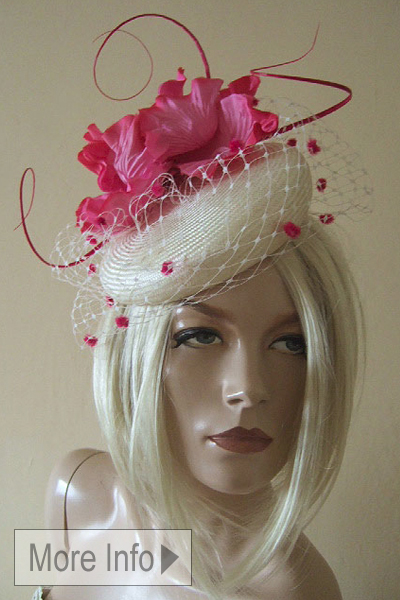 Gina Foster Pillbox Hat. Ascot Hat Hire. Pillbox Hats
