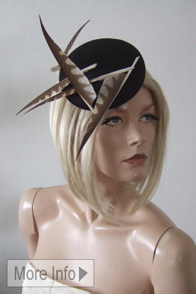 Laura Apsit Livens Hat. Ascot Hat Hire. Modern Hats. London Hat Hire. Modern Hats.