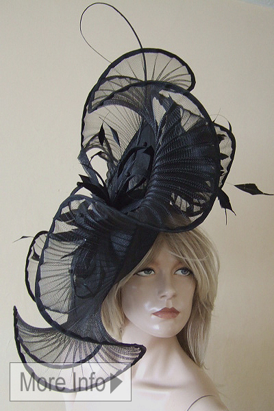 Big Peter Bettley Black Hat Hire for Ascot, Ascot Hat Rental. www.dress-2-impress.com
