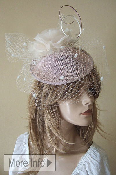Vivien Sheriff Blush Nude Hat. Ascot Hat Hire. Mother of the Bride Fascinators, Mother of the Bride Hats