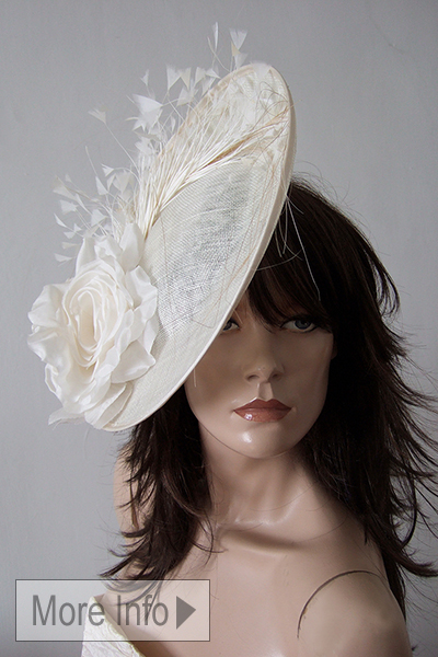 Ivory Fascinators, Saucer Fascinators, Ivory Fascinator Hire, What to wear to Royal Ascot, Mother of the bride hats, www.dress-2-impress.com Hats for Ascot
