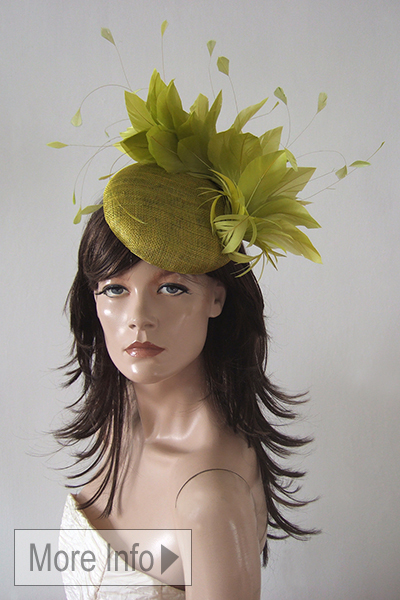 Olive Green Headpiece Hat for Royal Ascot. Ascot Hats. Hats for Royal Ascot. Mother of the Bride Hats. Olive Green Mother of the Bride Hat. Olive Green Fascinator