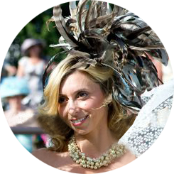 Designer Hat Hire for Newmarket Races. Top 10 Best Dressed Lady.