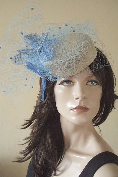 Cozmo Jenks Butterflies Hat. Ascot Hat Hire. Lace Hats. London Hat Hire