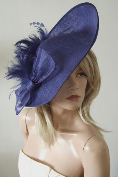 French Navy Fascinator Headpiece for Hire. Ascot Hat Hire. Hire Hat for Ascot. London Hat Hire. www.dress-2-impress.com.
