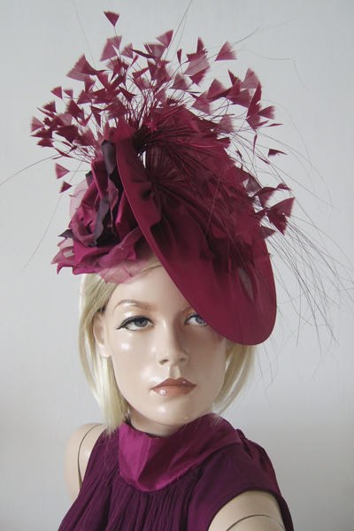 Jane Taylor Silk Ascot Hat. Ascot Hat Hire. Jane Taylor Hat Hire. Hats for the Races