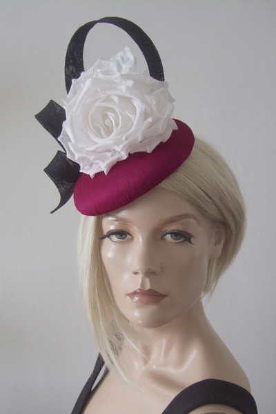Olivia Roat Hat for Hire. Ascot Hat Hire, Hats for Royal Ascot, London Hat Hire, Ladies Hat Hire