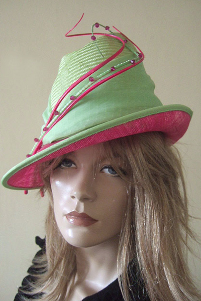 Vivien Sheriff Hat. Mother of the Bride. London Hat Hire. Ascot Hats