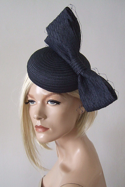William Chambers Navy Hat. Ascot Hat Hire. www.dress-2-impress.com London Hat Hire